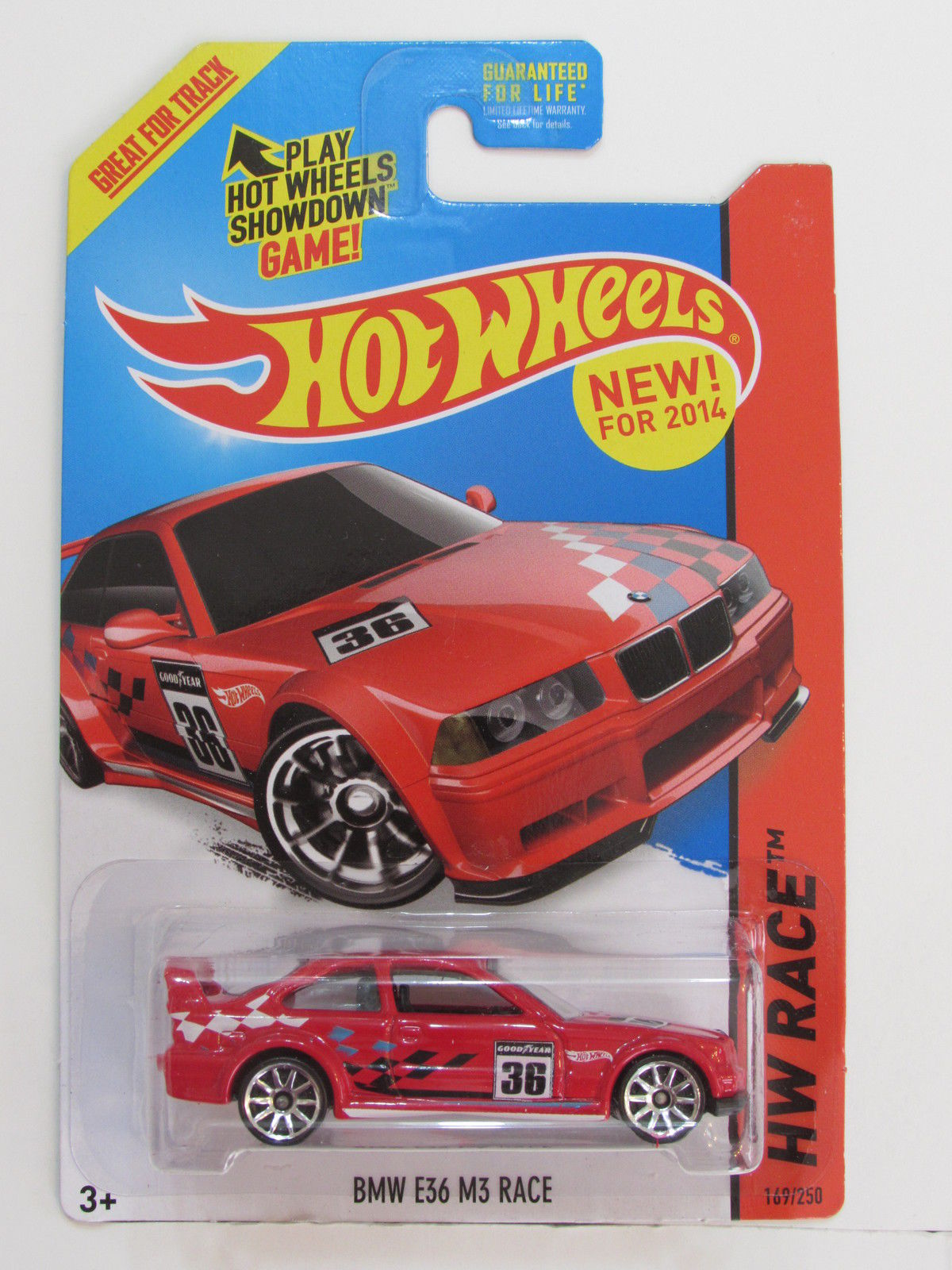 HOT WHEELS 2014 HW RACE - TRACK ACES BMW E36 M3 RACE RED