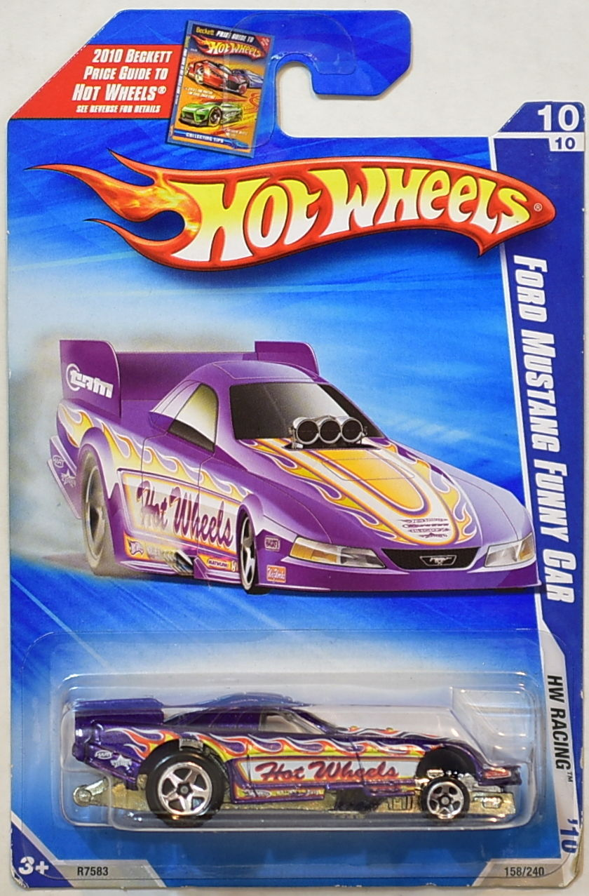 HOT WHEELS 2010 HW RACING FORD MUSTANG FUNNY CAR