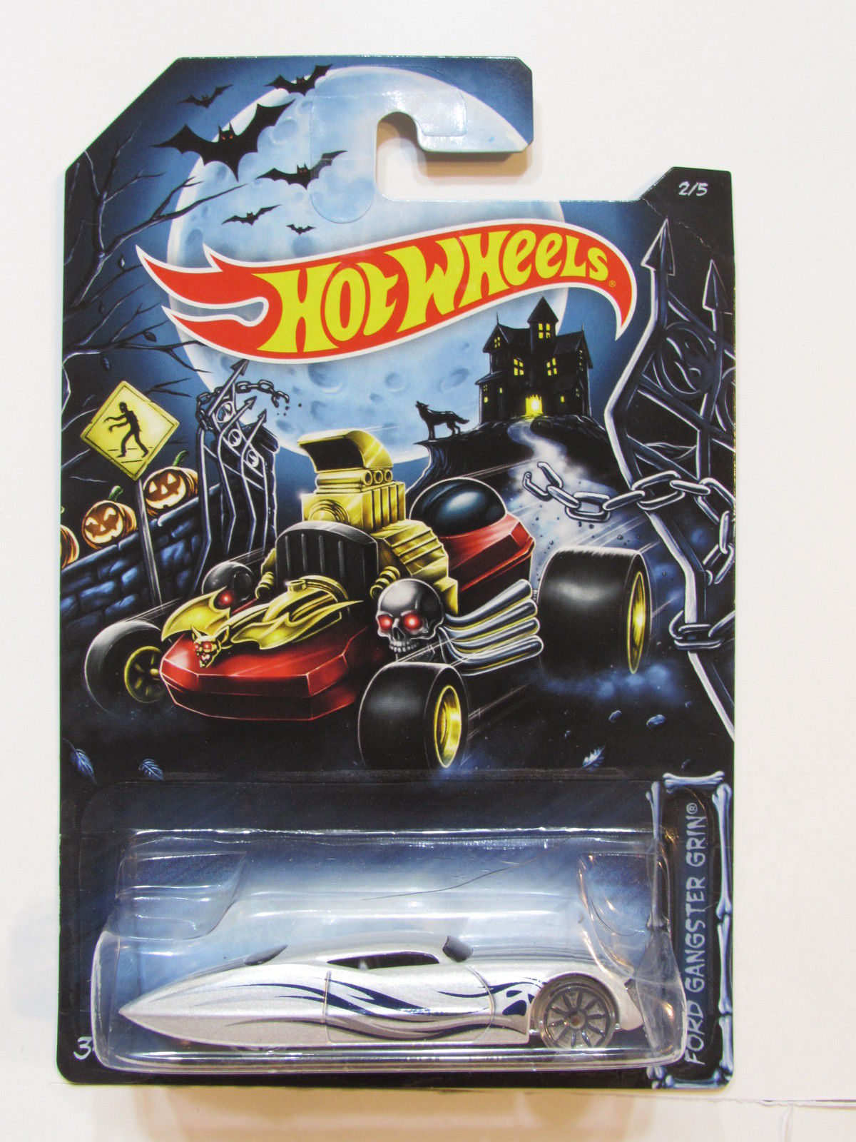 HOT WHEELS 2014 HAPPY HALLOWEEN FORD GANGSTER GRIN #2/5