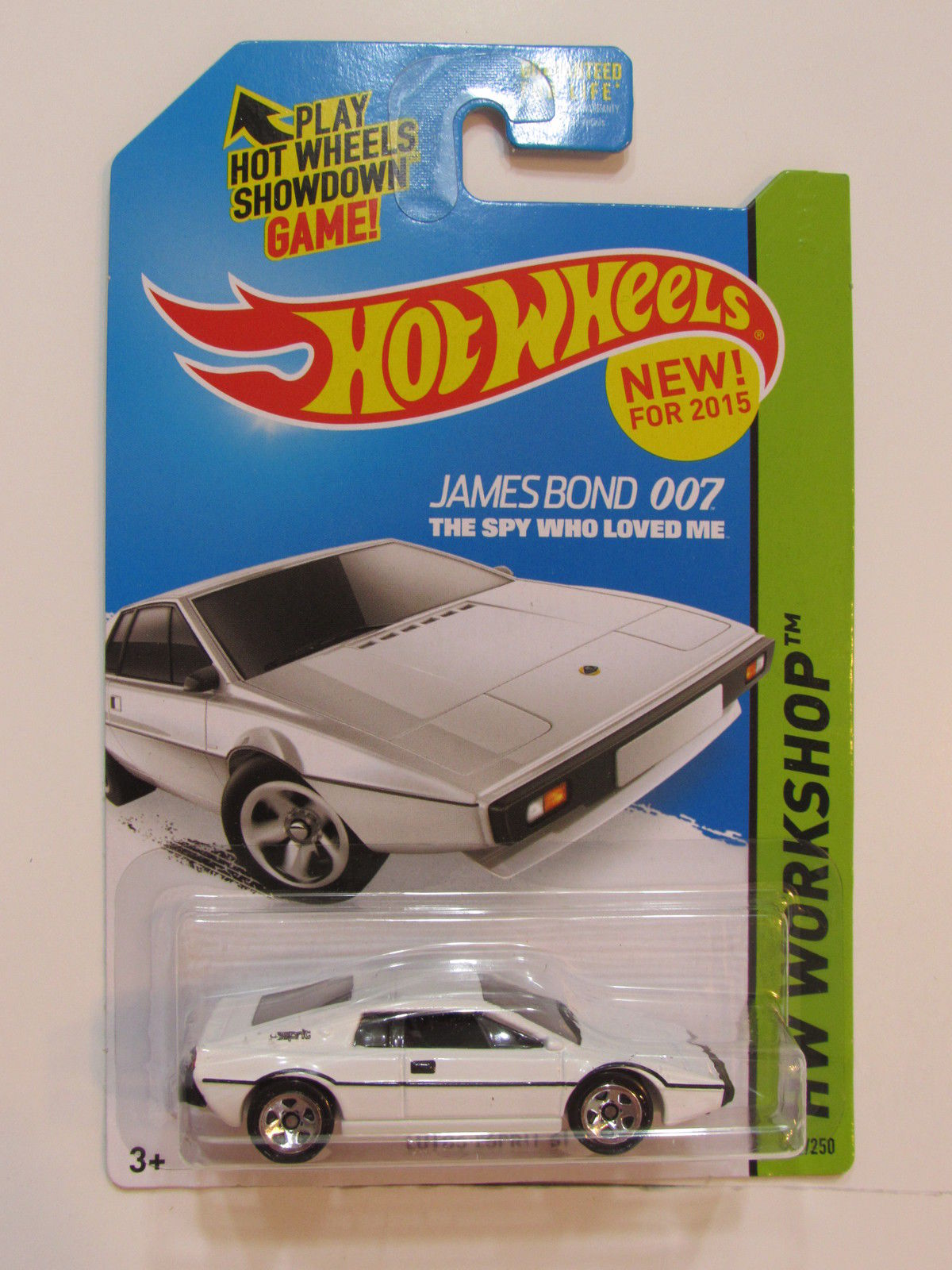 HOT WHEELS 2015 HW WORKSHOP - HW GARAGE LOTUS ESPRIT S1 WHITE