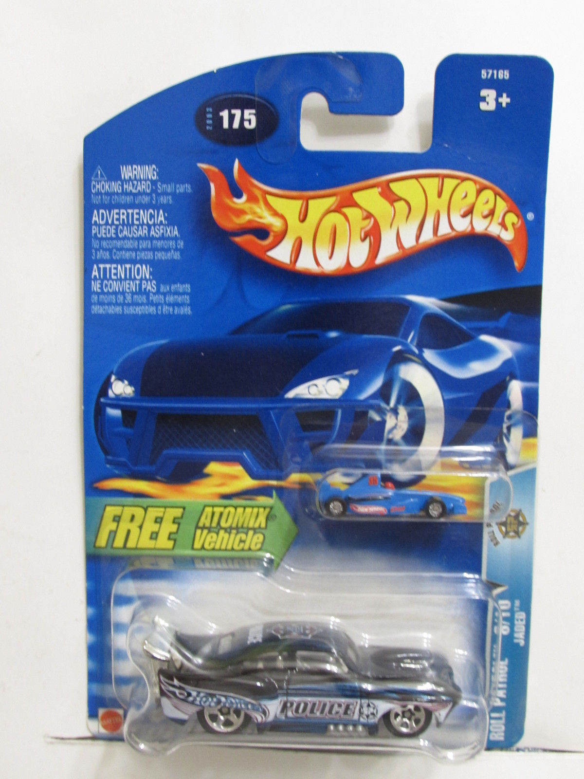 HOT WHEELS 2003 ROLL PATROL JADED W/ FREE ATOMIX VEHICLE