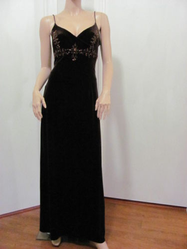 GORGEOUS DAVE & JOHNNY BY LAURA RYNER BROWN DRESS SIZE 9/10