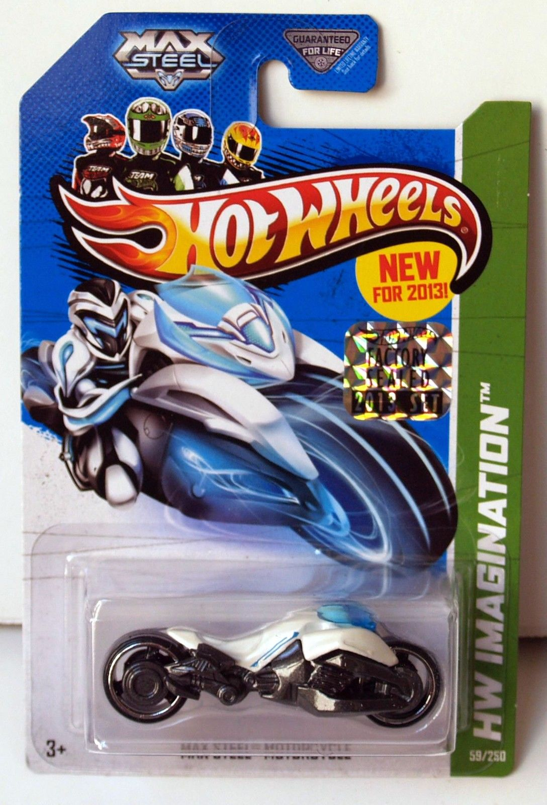 HOT WHEELS 2013 HW IMAGINATION FUTURE FLEET MAX STEEL MOTORCYCLE FACTORY SEALED