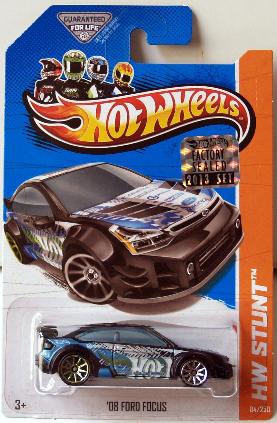 HOT WHEELS 2013 HW STUNT DRIFT RACE '08 FORD FOCUS FACTORY SEALED