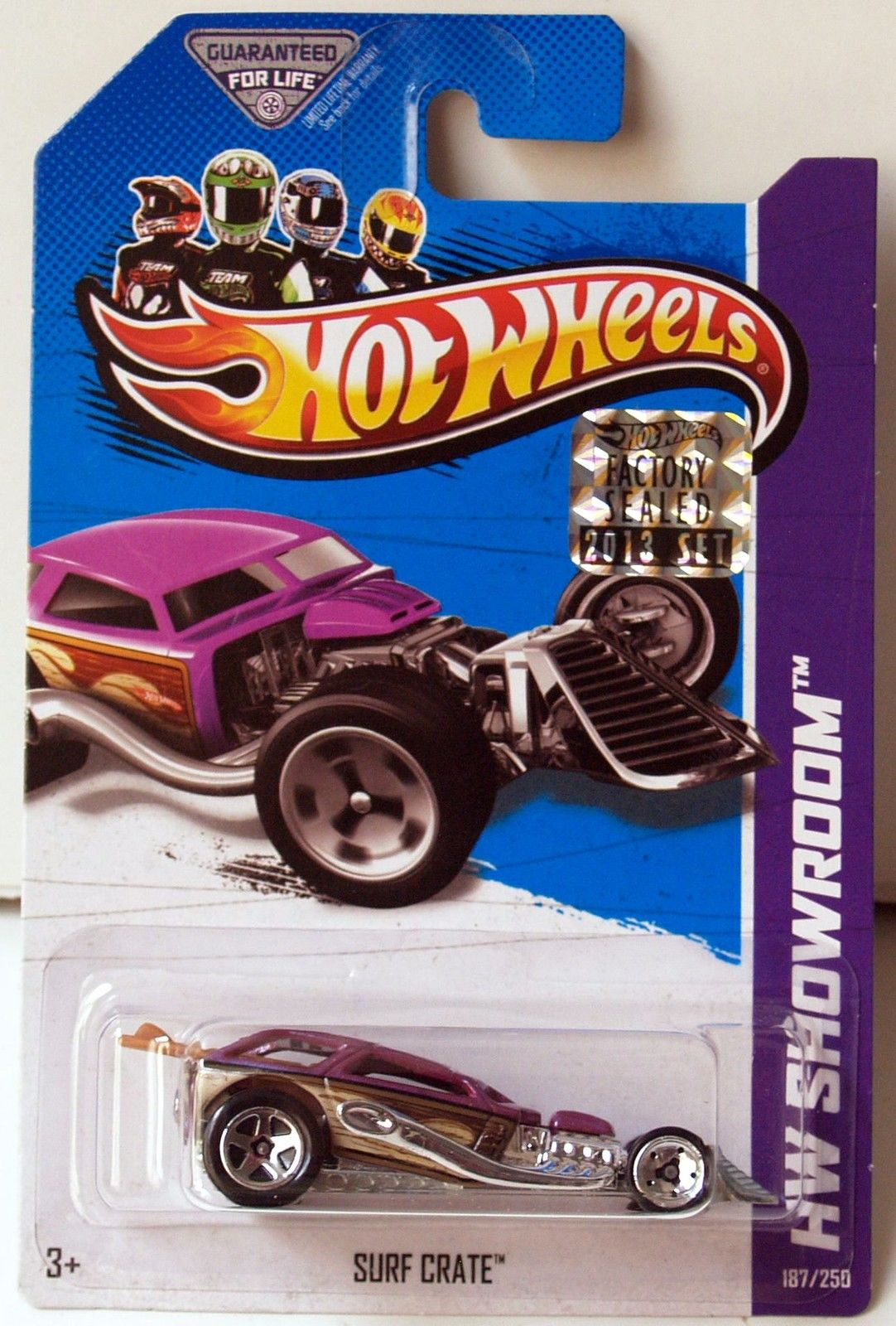 HOT WHEELS 2013 HW SHOWROOM AMERICAN TURBO SURF CRATE PURPLE FACTORY SEALED