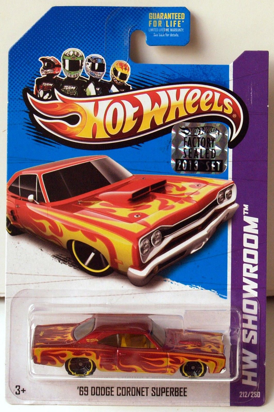 HOT WHEELS 2013 HW SHOWROOM '69 DODGE CORONET SUPERBEE RED FACTORY SEALED