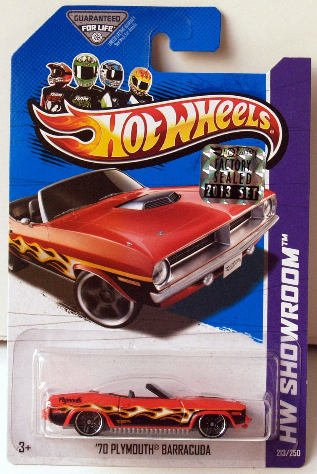 HOT WHEELS 2013 HW SHOWROOM HEAT FLEET '70 PLYMOUTH BARRACUDA FACTORY SEALED