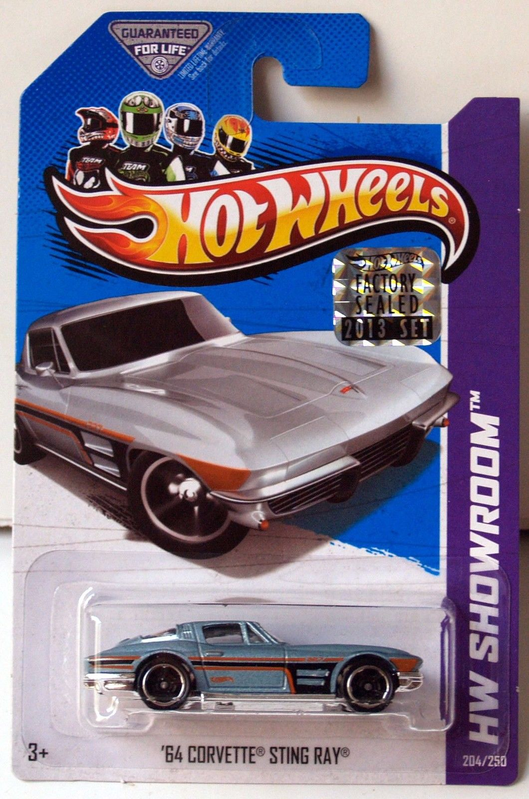 HOT WHEELS 2013 HW SHOWROOM CORVETTE 60TH '64 CORVETTE STING RAY FACTORY SEALED