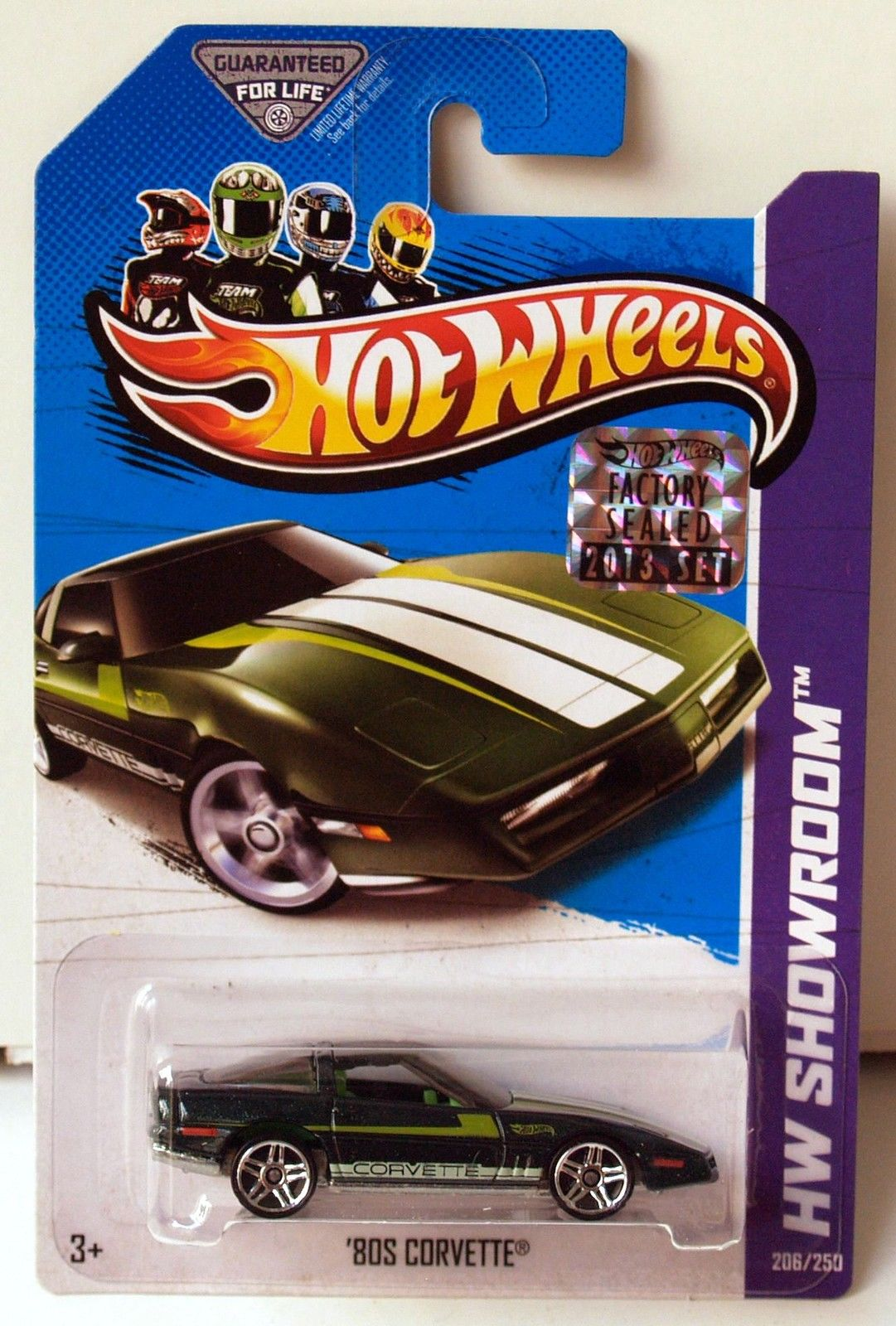 HOT WHEELS 2013 HW SHOWROOM CORVETTE 60TH '80S CORVETTE GREEN FACTORY SEALED