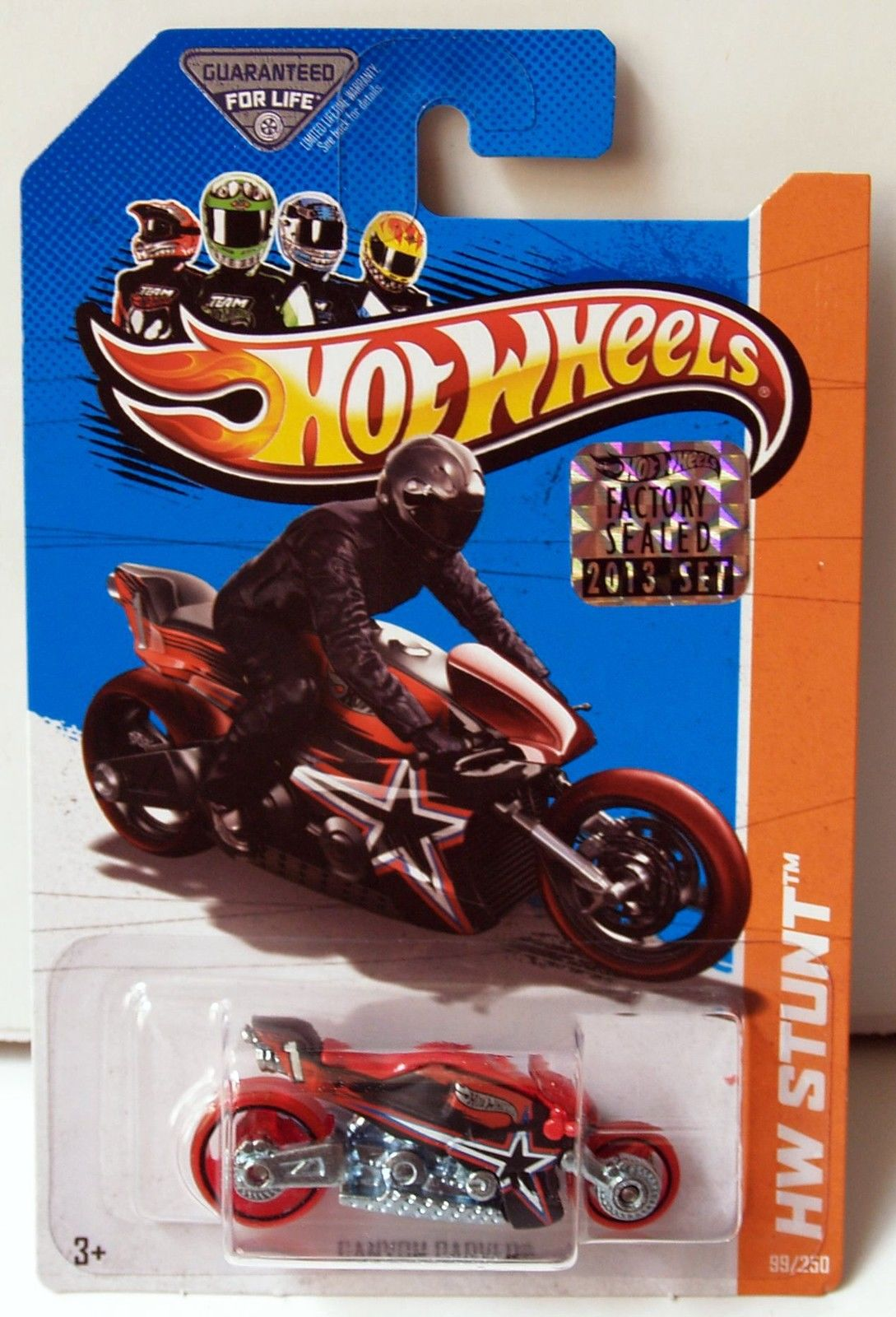 HOT WHEELS 2013 HW STUNT - HW MOTO CANYON CARVER RED FACTORY SEALED