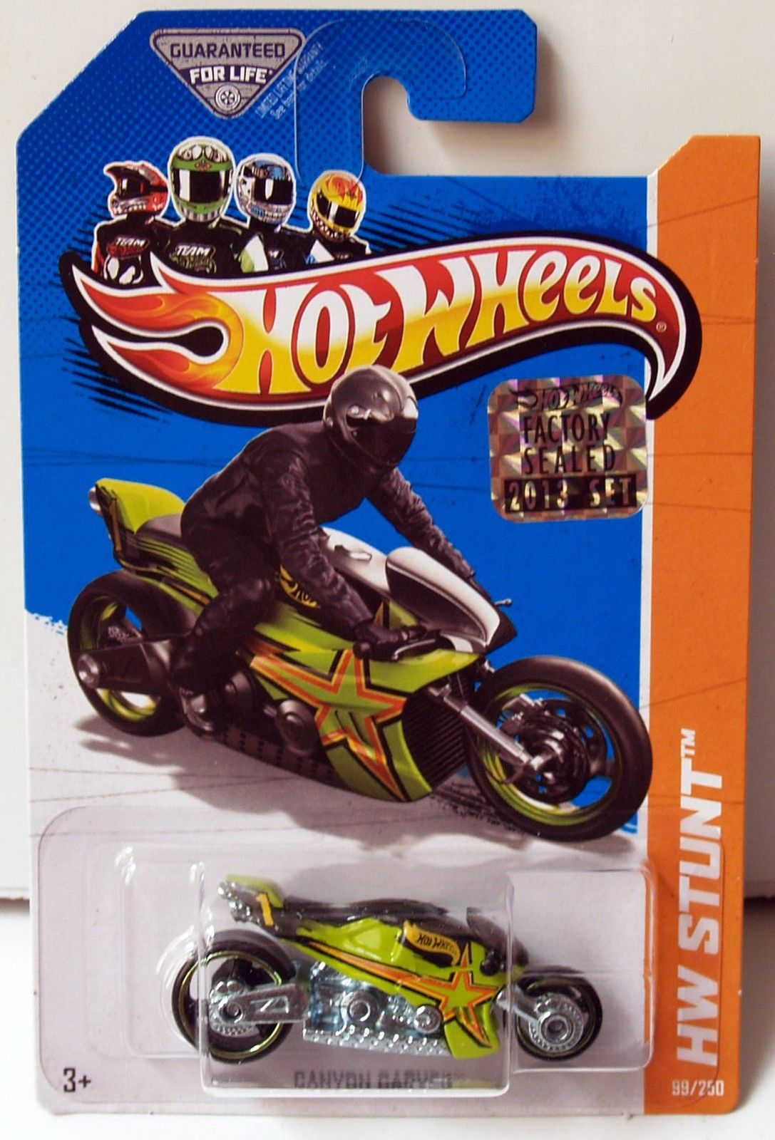 HOT WHEELS 2013 HW STUNT - HW MOTO CANYON CARVER GREEN FACTORY SEALED
