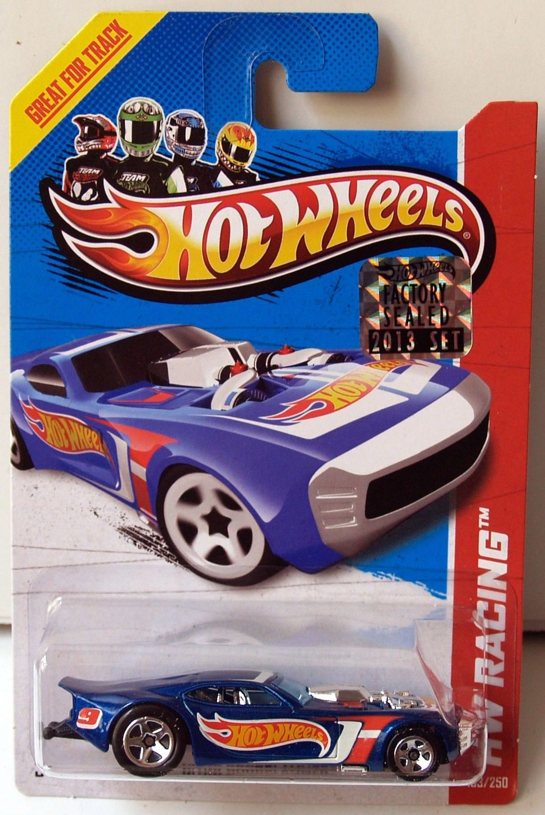 HOT WHEELS 2013 HW RACING - HW RACE TEAM NITRO DOORSLAMMER BLUE FACTORY SEALED