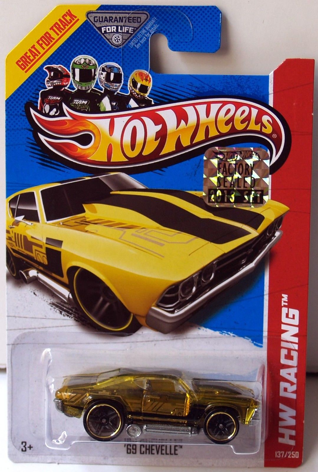 HOT WHEELS 2013 HW RACING X-RAYCERS '69 CHEVELLE YELLOW FACTORY SEALED