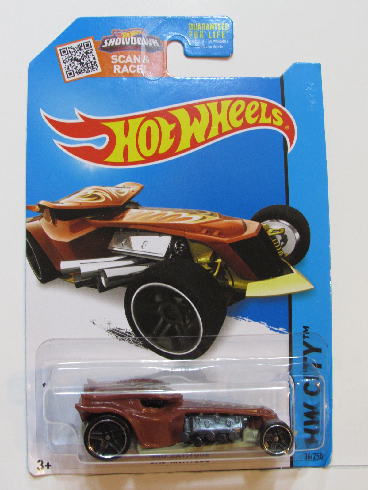 HOT WHEELS 2015 HW CITY - STREET BEASTS BAD RATITUDE BROWN