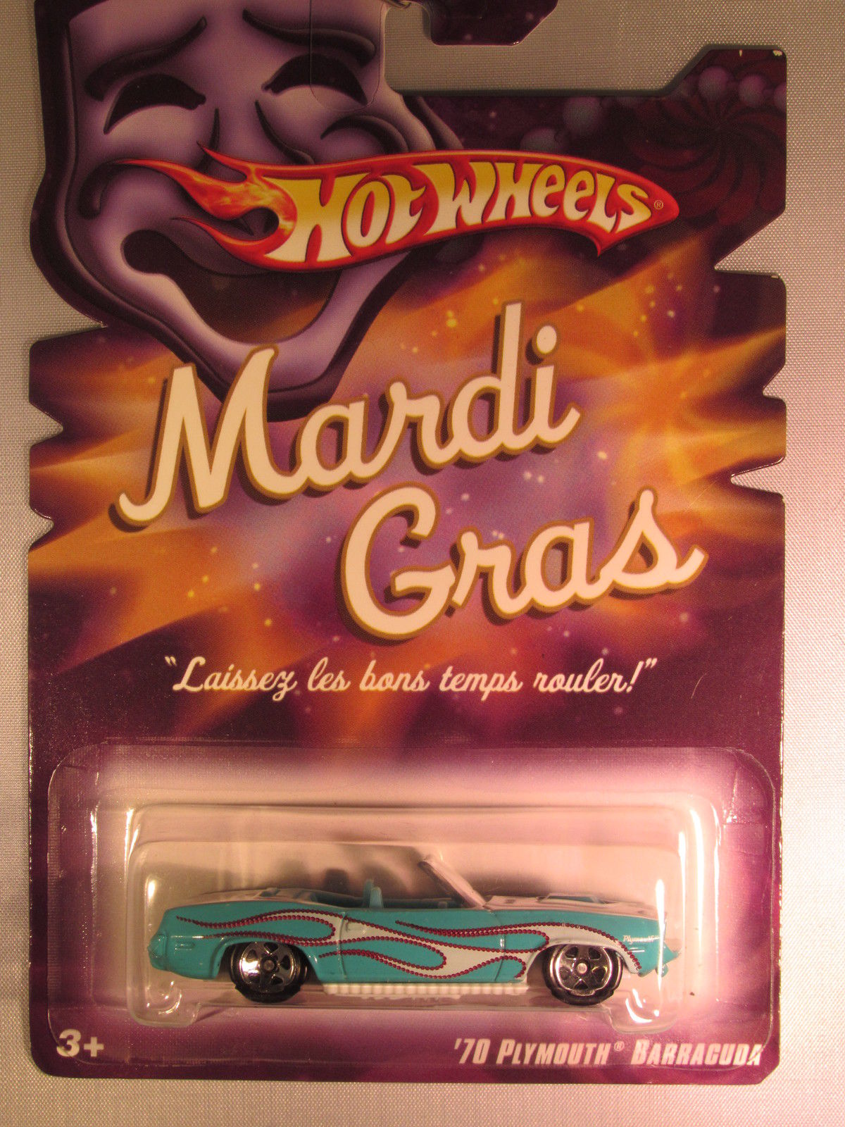 HOT WHEELS MARDI GRAS '70 PLYMOUTH BARRACUDA
