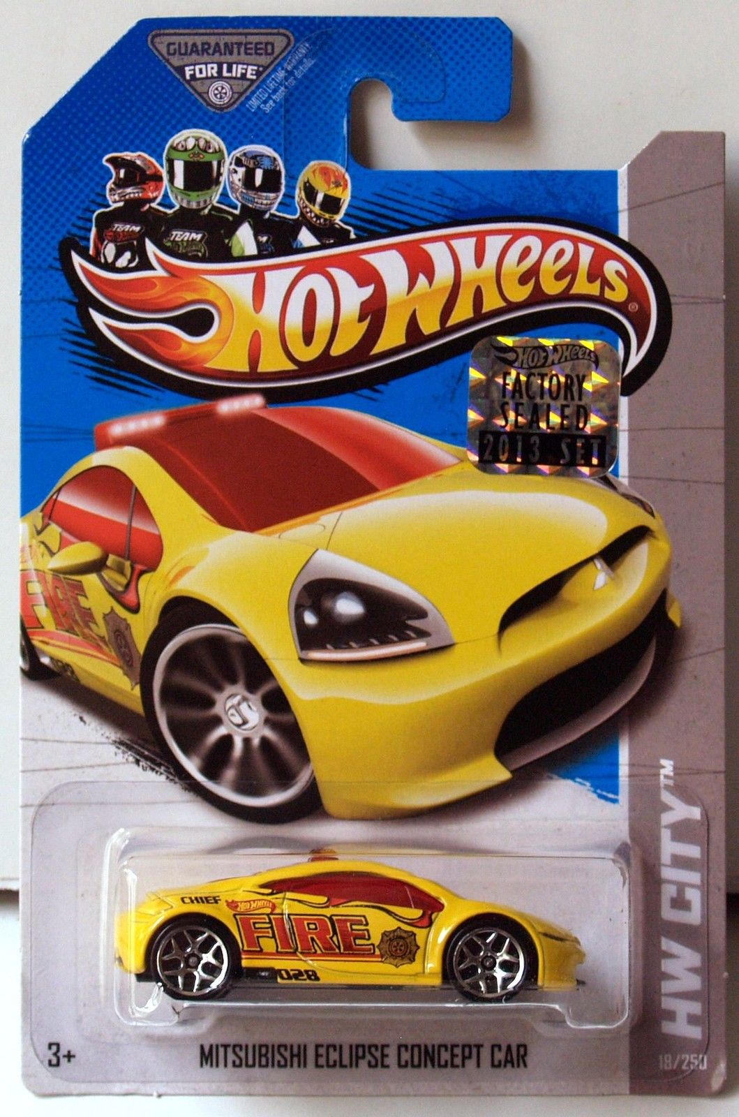 HOT WHEELS 2013 HW CITY RESCUE MITSUBISHI ECLIPSE CONCEPT CAR FACTORY SEALED