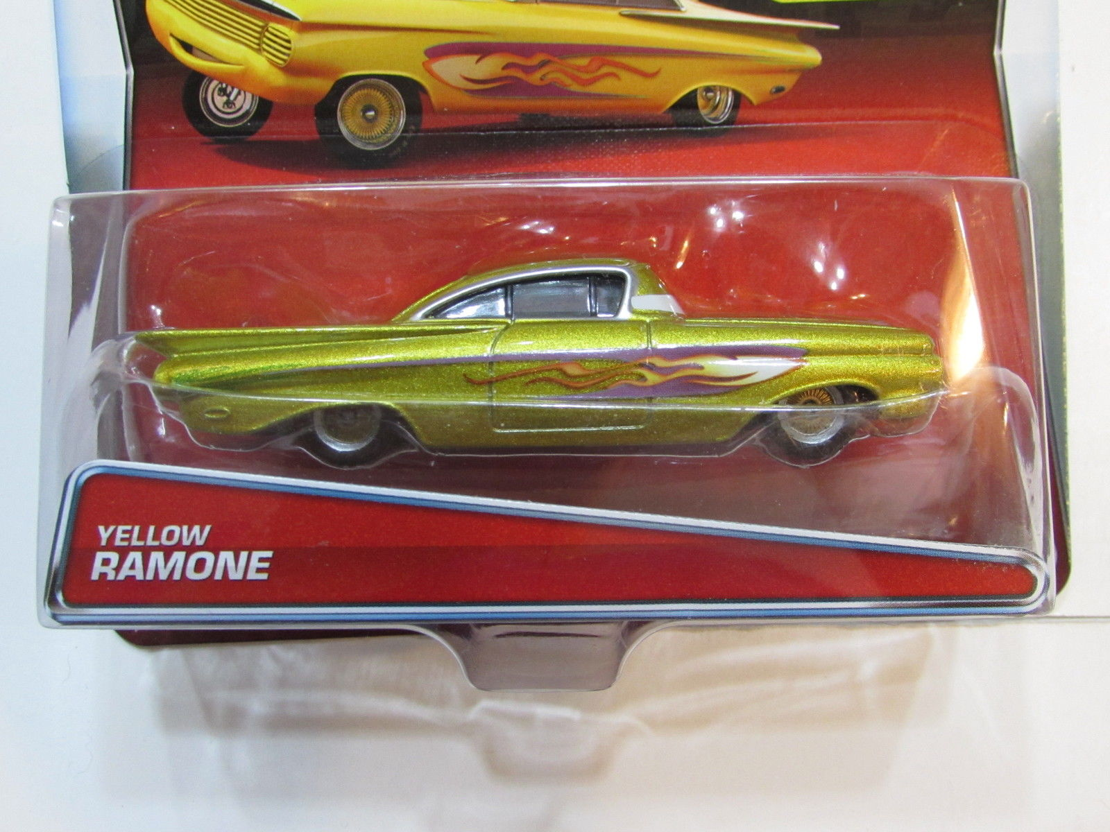DISNEY PIXAR CARS RADIATOR SPRINGS YELLOW RAMONE