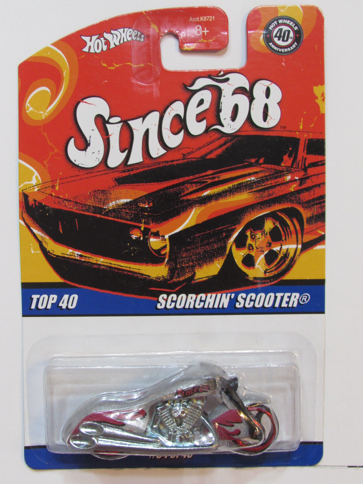 HOT WHEELS SINCE 68 SCORCHIN' SCOOTER - TOP 40