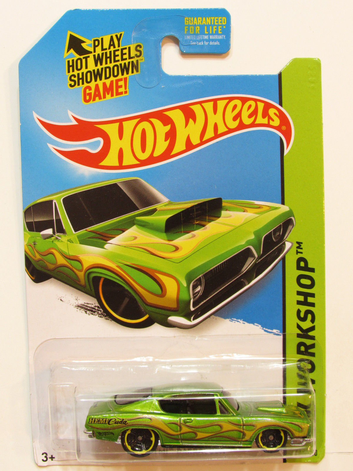 HOT WHEELS 2015 HW WORKSHOP - HEAT FLEET '68 HEMI BARRACUDA