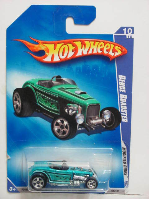 HOT WHEELS 2009 MODIFIED RIDES DEUCE ROADSTER BLUE