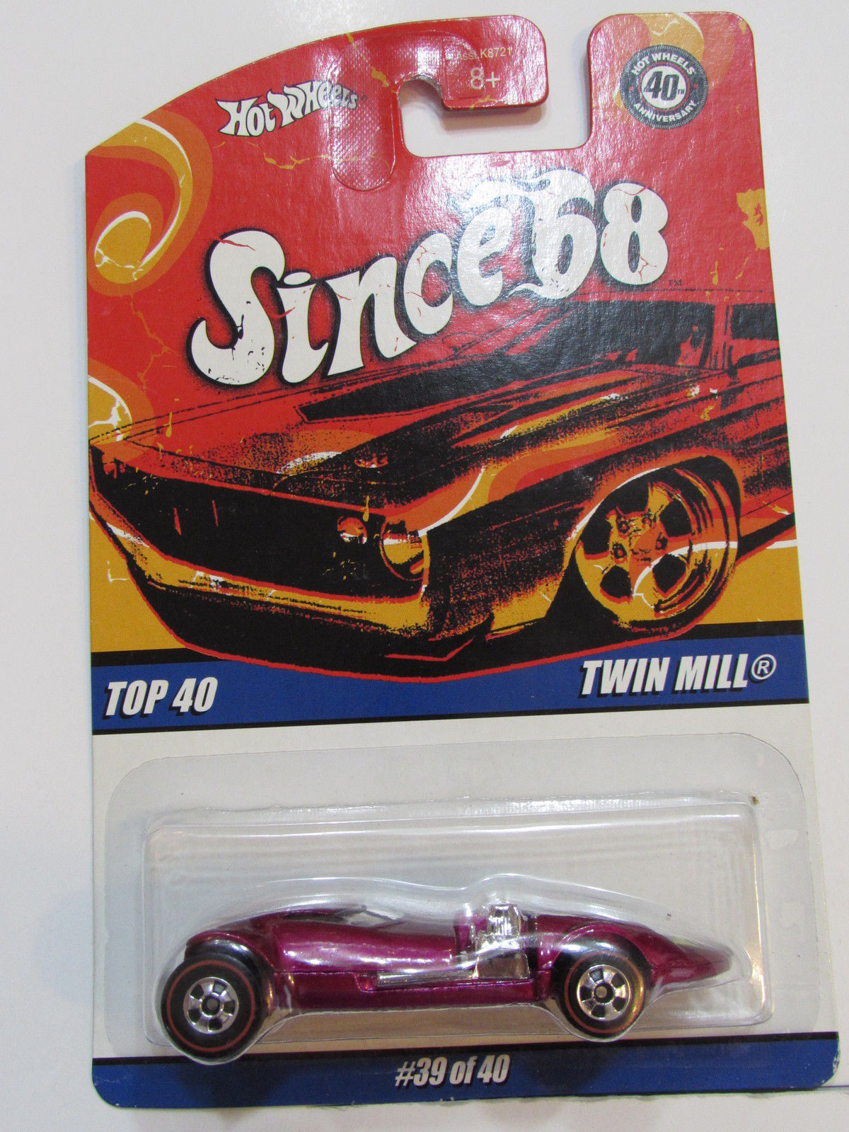HOT WHEELS SINCE 68 TOP 40 TWIN MILL RED E+