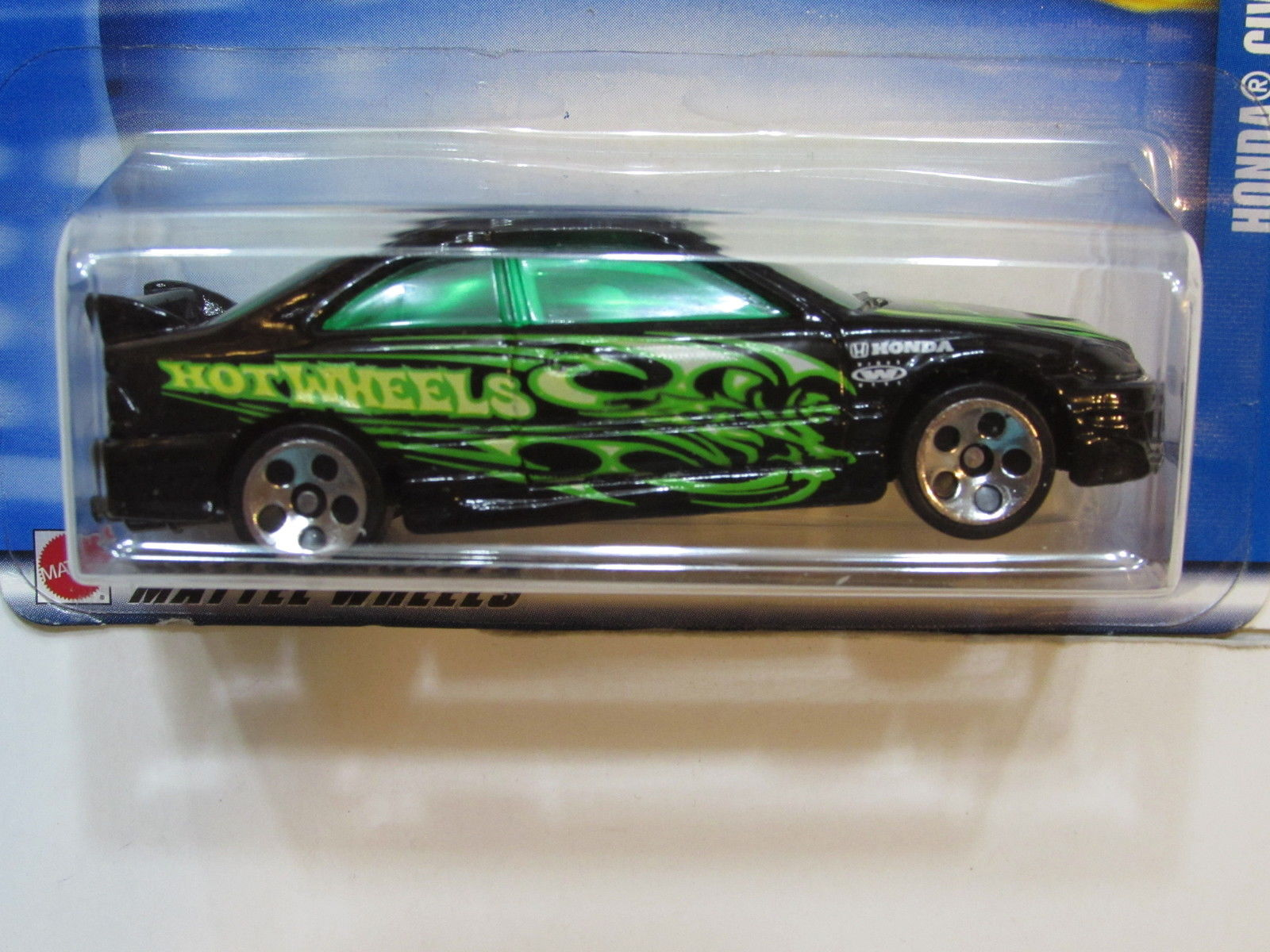 HOT WHEELS 2002 HONDA CIVIC BLACK #115