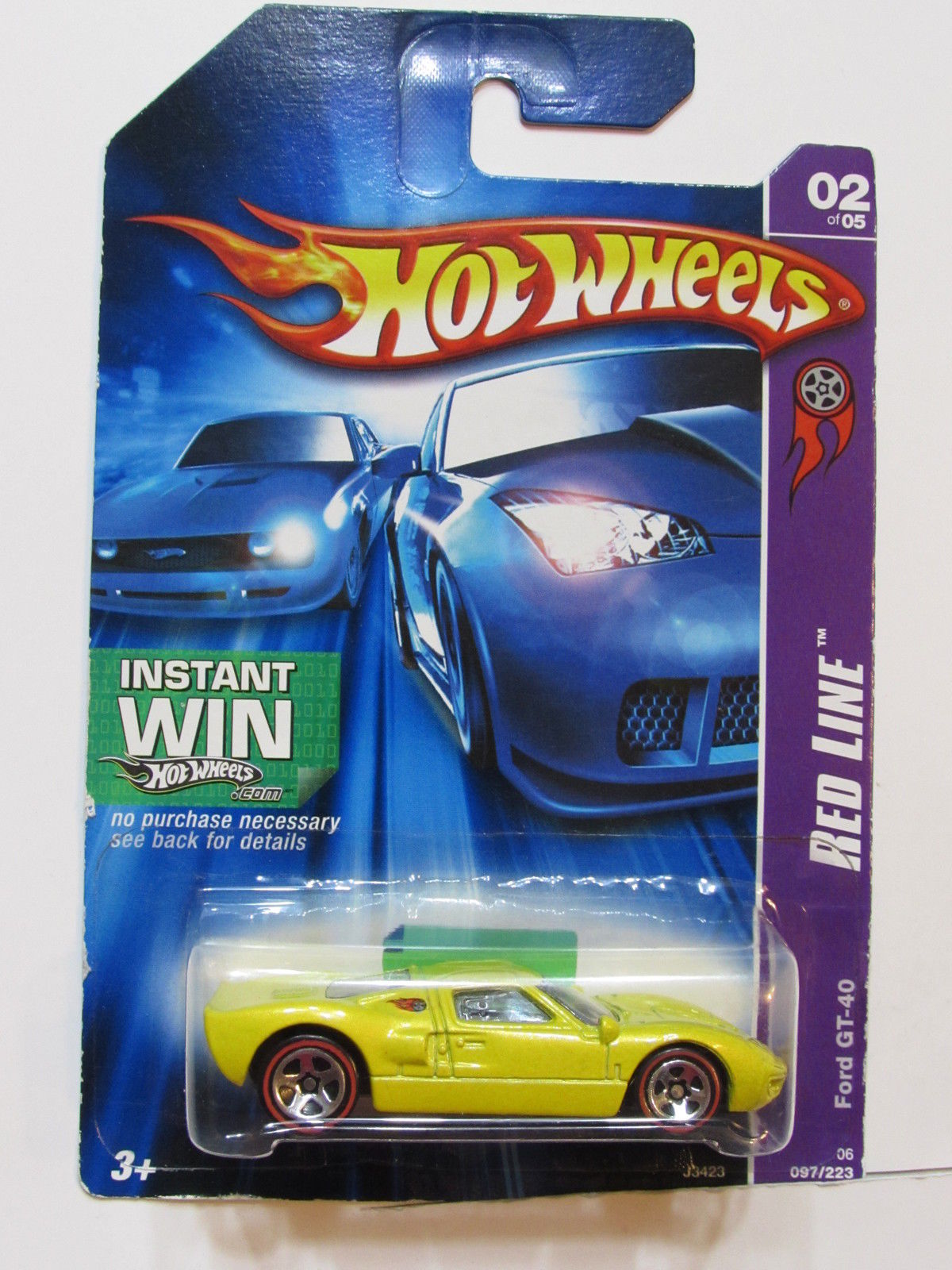HOT WHEELS 2006 RED LINE FORD GT- 40 YELLOW