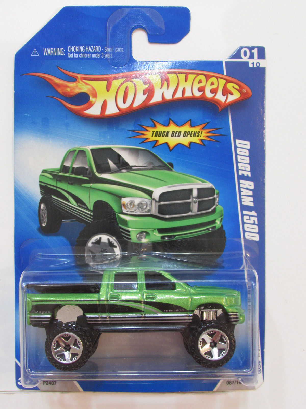 HOT WHEELS 2009 HW SPECIAL FEATURES DODGE RAM 1500 GREEN E+