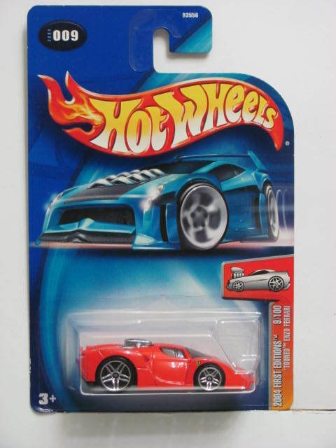 HOT WHEELS 2004 FIRST EDITIONS TOONED ENZO FERRARI #009 RED