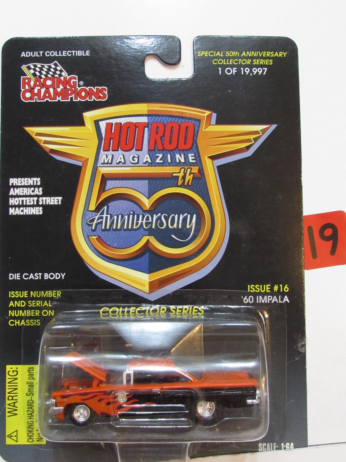 RACING CHAMPIONS HOT ROD #16 '60 CHEVY IMPALA SCALE 1:64