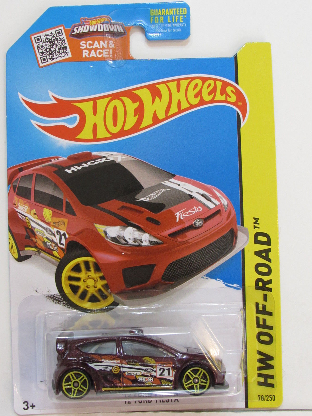 HOT WHEELS 2015 HW OFF ROAD - ROAD RALLY '12 FORD FIESTA