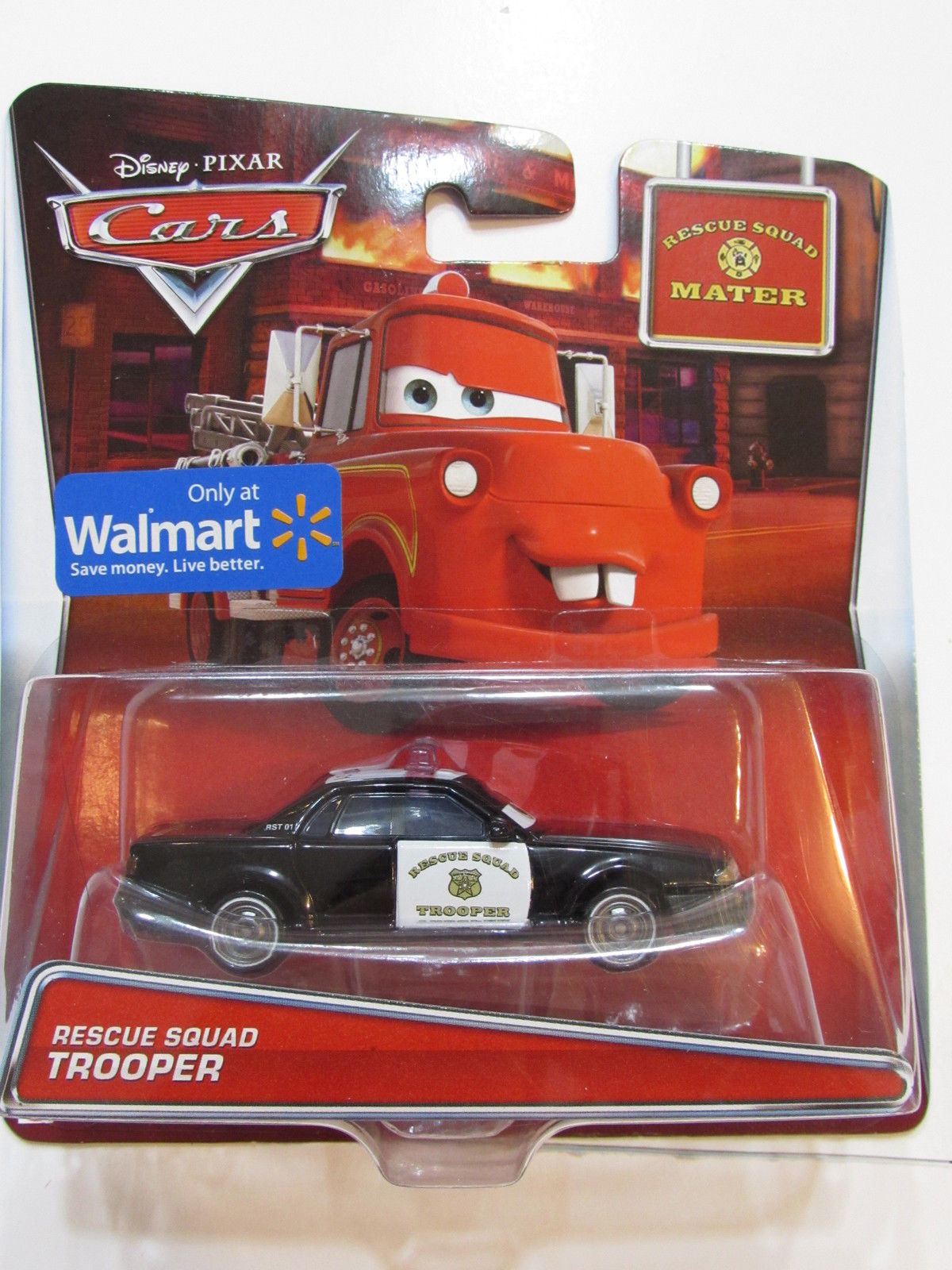 DISNEY PIXAR CARS RESCUE SQUAD MATER TROOPER WALMART E+