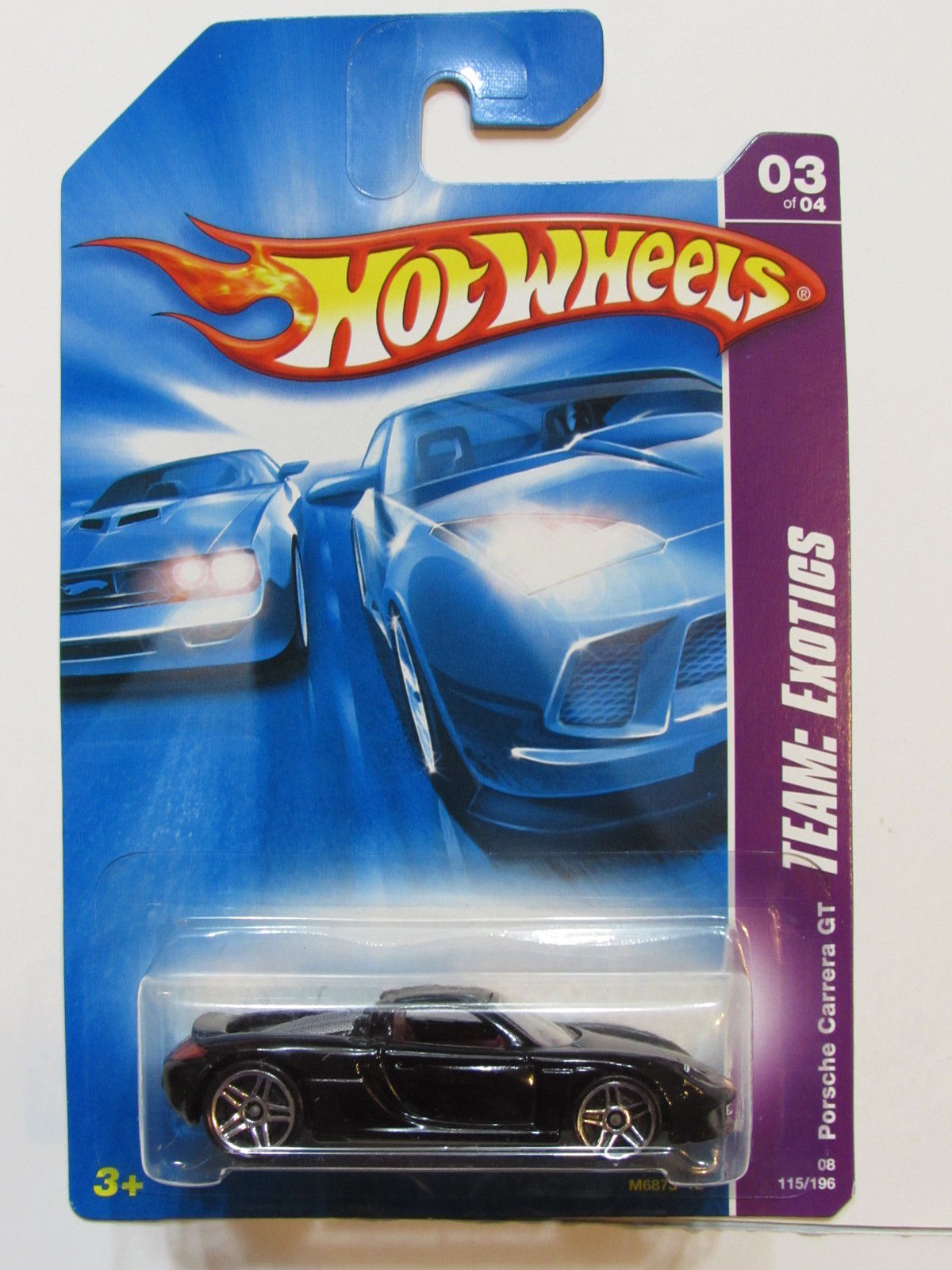 HOT WHEELS 2008 TEAM EXOTICS PORSCHE CARRERA GT BLACK