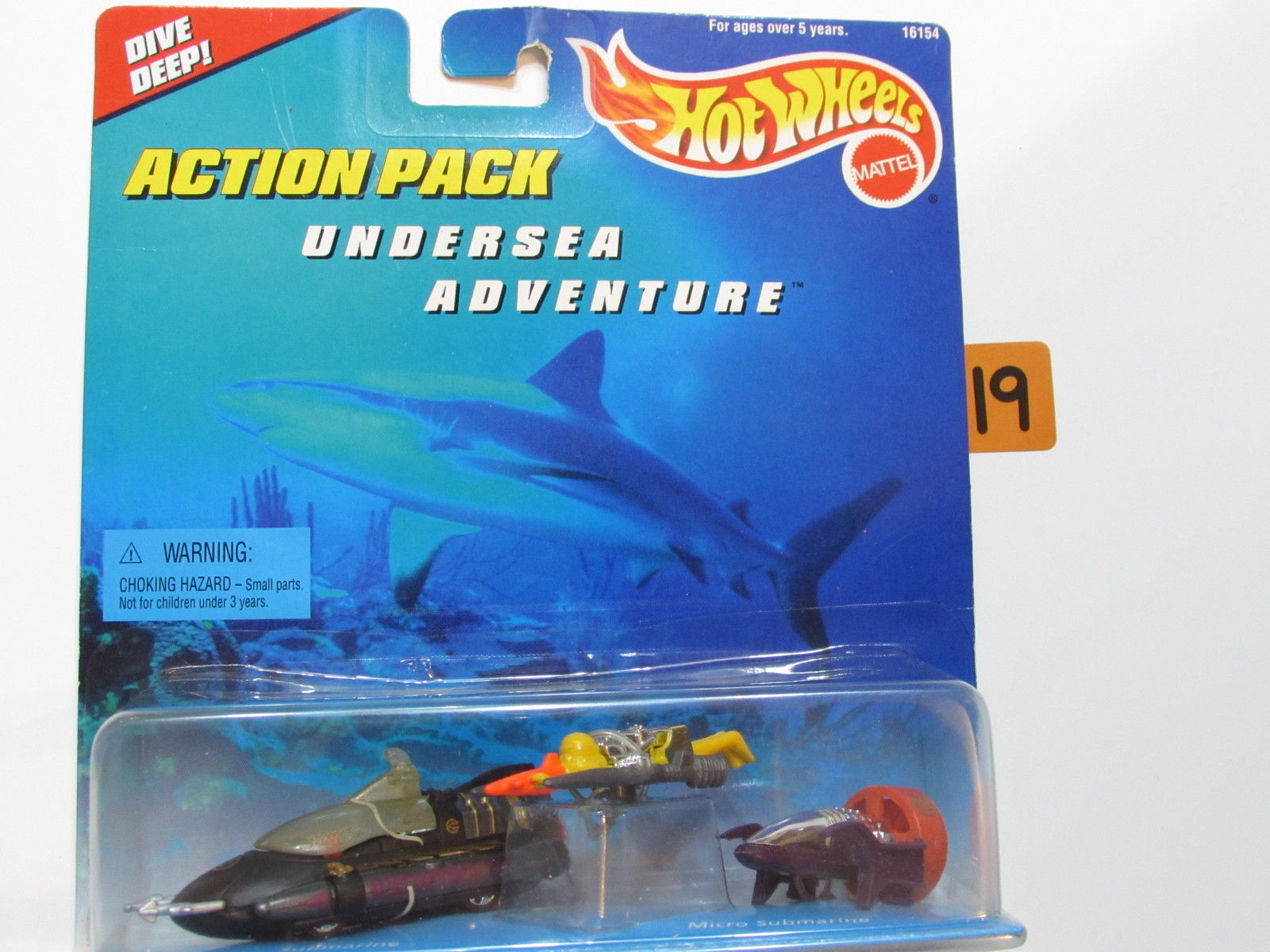 HOT WHEELS ACTION PACK UNDERSEA ADVENTURE SUBMARINE - MICRO SUBMARINE