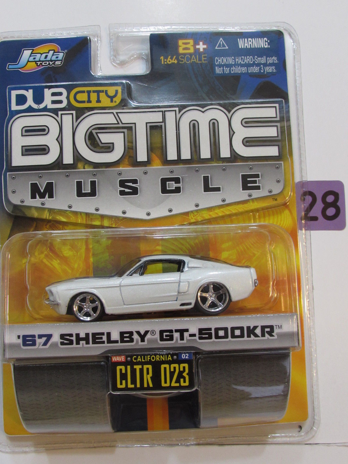 JADA DUB CITY BIGTIME MUSCLE '67 SHELBY GT-500KR CLTR 023 NO STRIPE ERROR