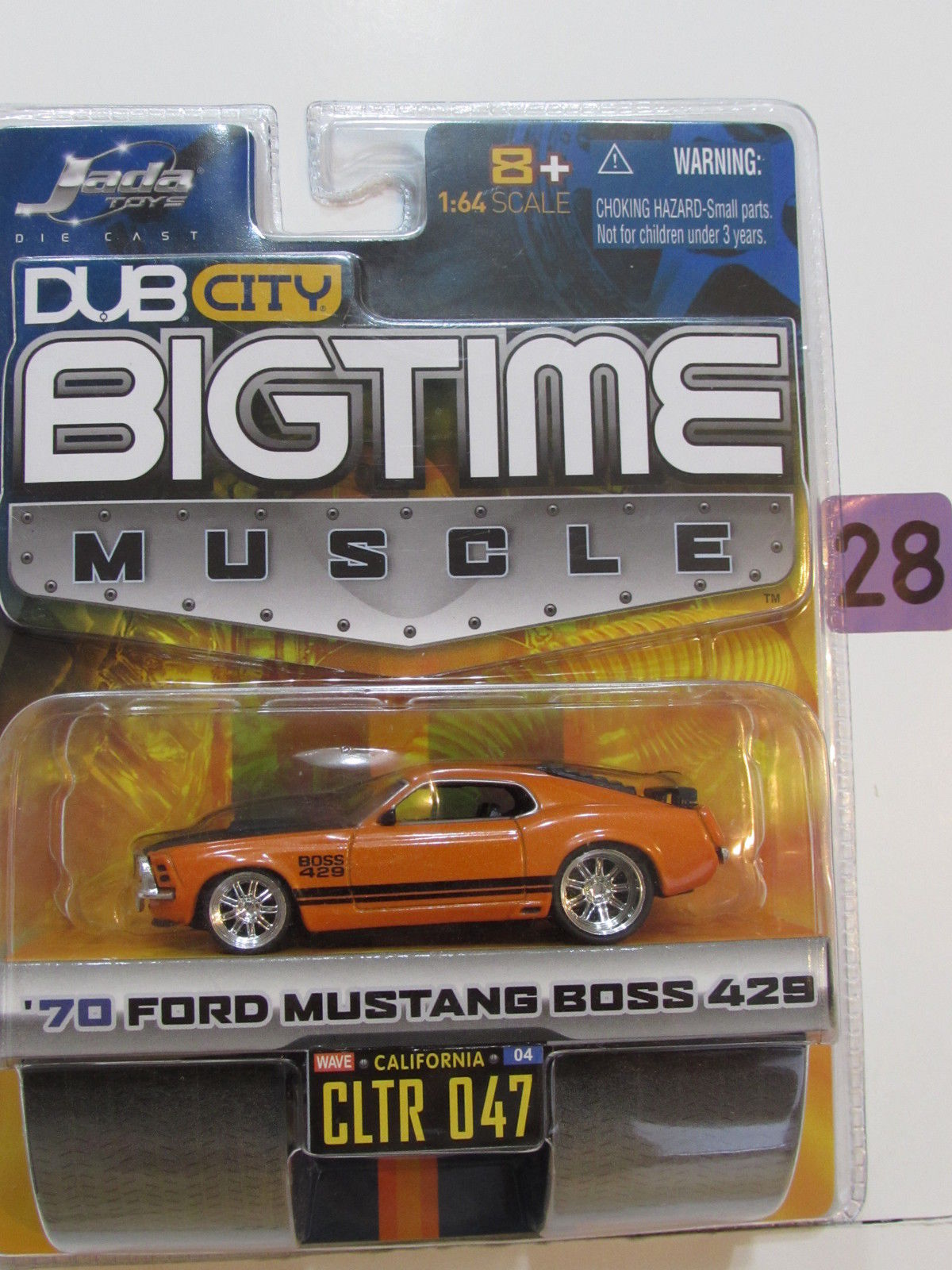 JADA DUB CITY BIGTIME MUSCLE '70 FORD MUSTANG BOSS 429 CLTR 047 ORANGE