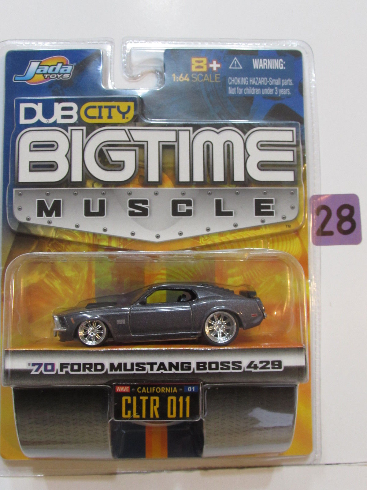 JADA DUB CITY BIGTIME MUSCLE '70 FORD MUSTANG BOSS 429 CLTR 011 GRAY