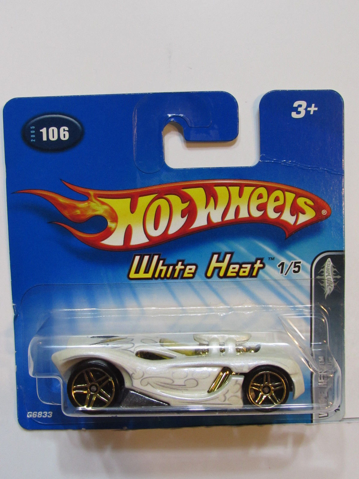 HOT WHEELS 2005 WHITE HEAT 16 ANGELS #106 SHORT CARD