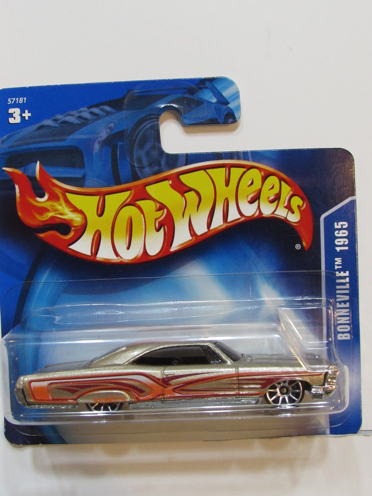 HOT WHEELS 2003 PONTIAC BONNEVILLE 1965 #215 GOLD SHORT CARD