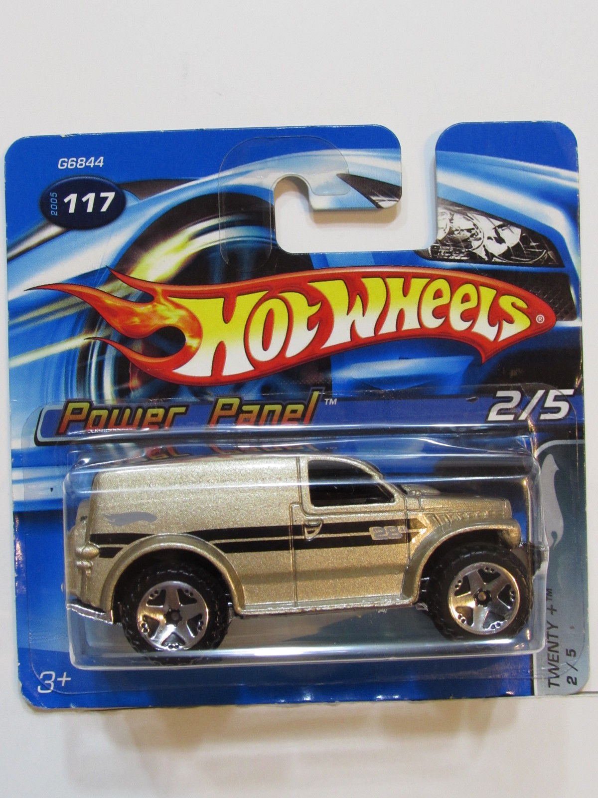 HOT WHEELS 2005 POWER PANEL 2/5 TWENTY #117 SHORT CARD
