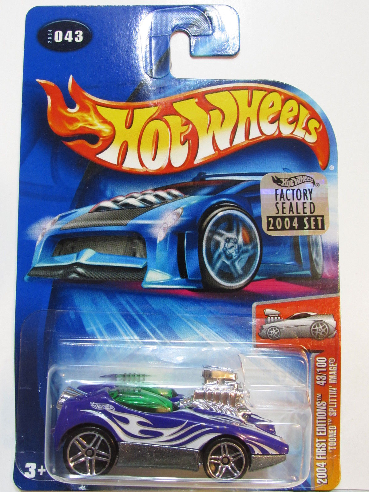 HOT WHEELS 2004 FIRST EDITIONS TOONED SPLITTIN IMAGE #043 FACTORY SEALED