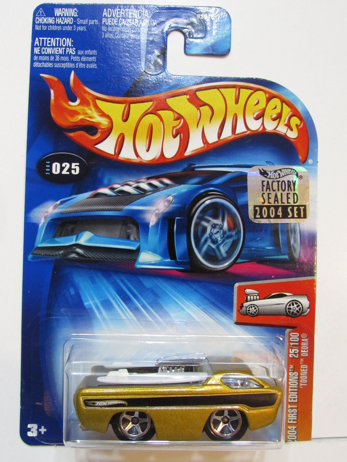 HOT WHEELS 2004 FIRST EDITIONS TOONED DEORA #025 FACTORY SEALED