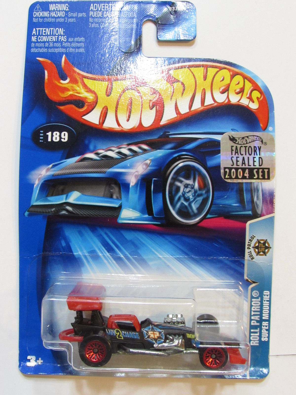 HOT WHEELS 2004 ROLL PATROL SUPER MODIFIED #189 FACTORY SEALED