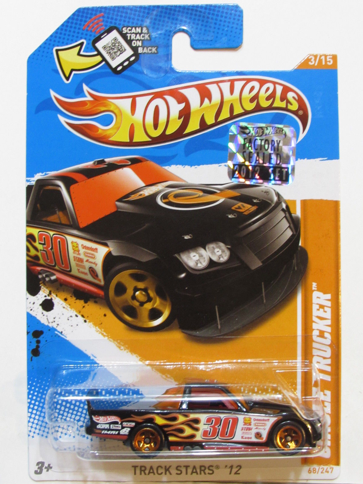 HOT WHEELS TRACK STARS 2012 CIRCLE TRUCKER FACTORY SEALED
