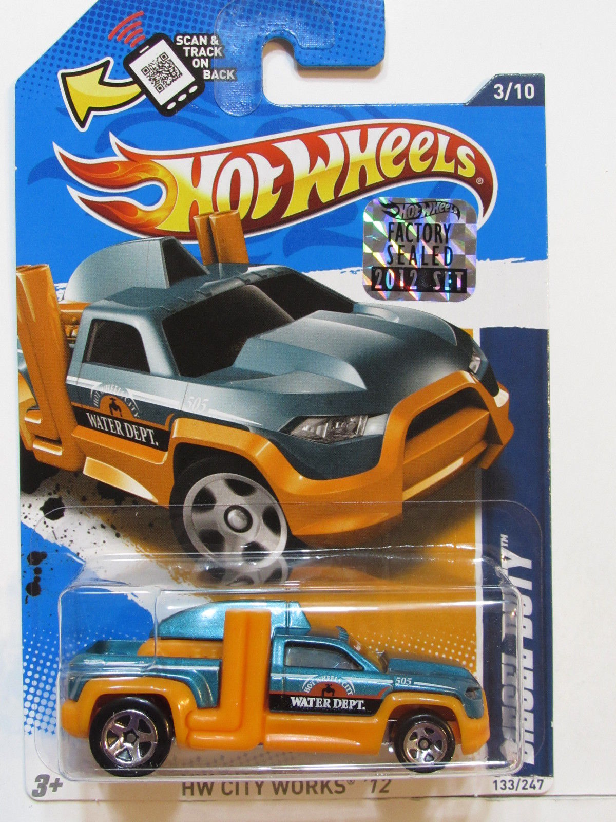 HOT WHEELS 2012 CITY WORKS DIESEL DUTY HW LOGO FACTORY SEALED