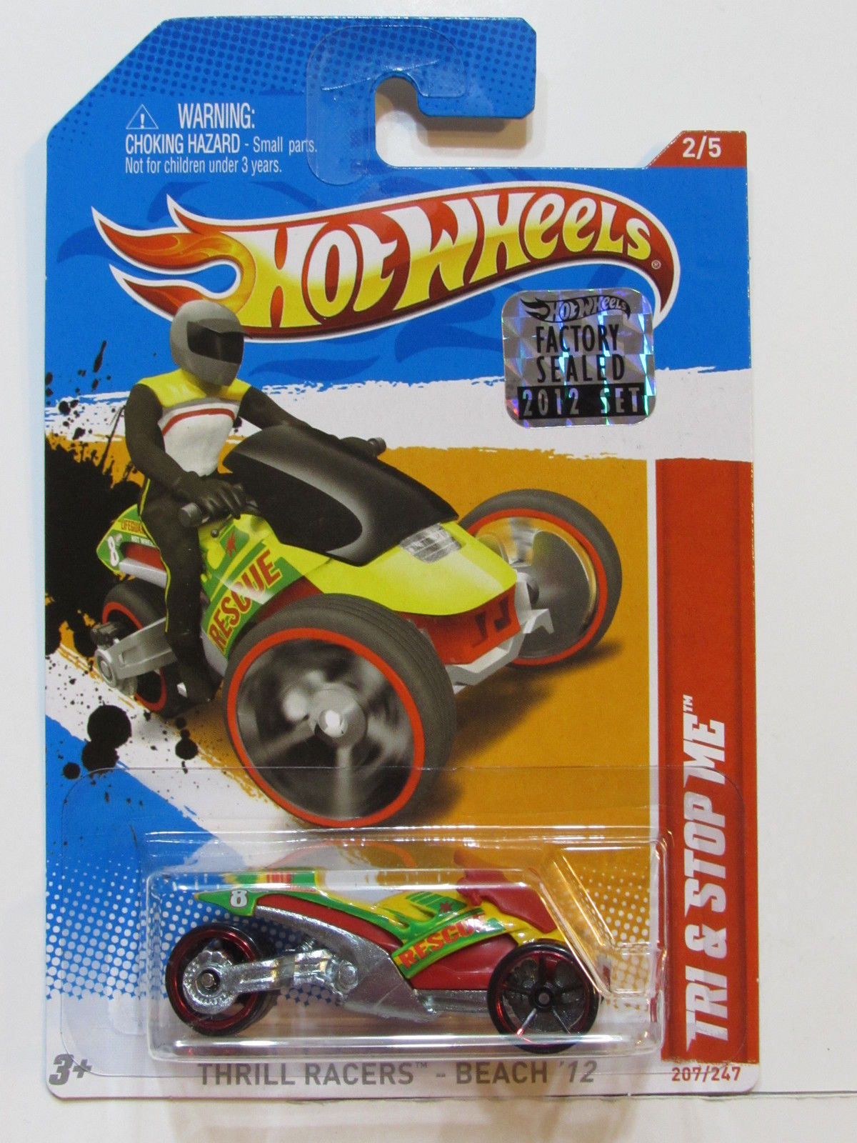 HOT WHEELS 2012 THRILL RACERS-BEACH TRI & STOP ME FACTORY SEALED
