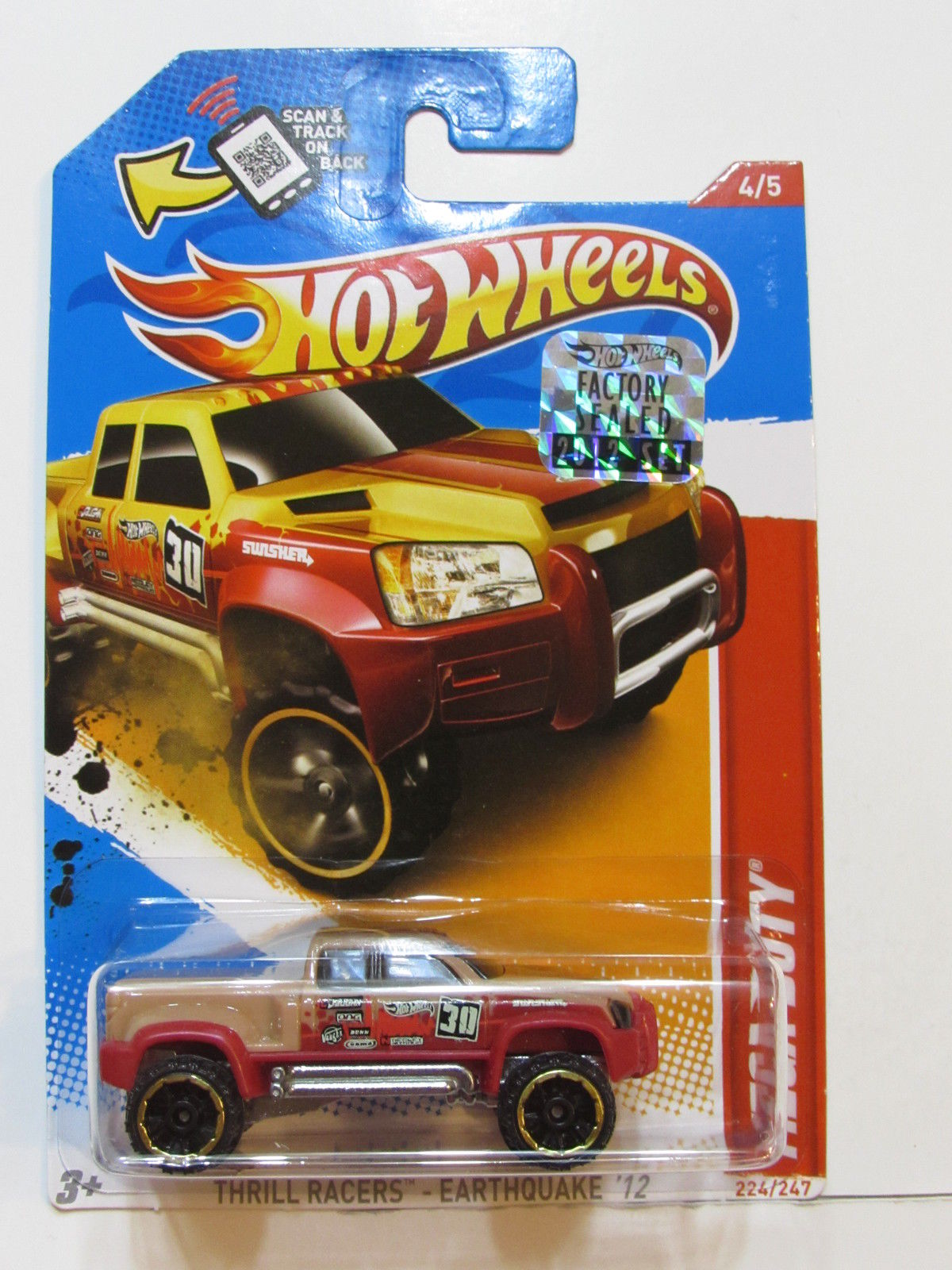 HOT WHEELS 2012 THRILL RACERS-EARTHQUAKE MEGA-DUTY FACTORY SEALED