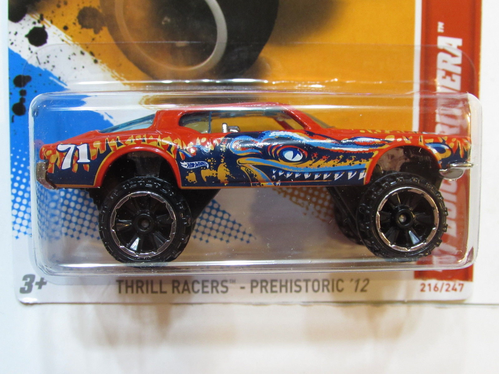 HOT WHEELS 2012 THRILL RACERS-PREHISTORIC 71 BUICK RIVERA RED FACTORY SEALED