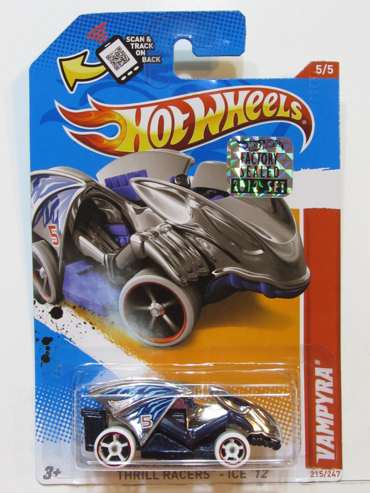 HOT WHEELS 2012 THRILL RACERS-ICE VAMPYRA FACTORY SEALED