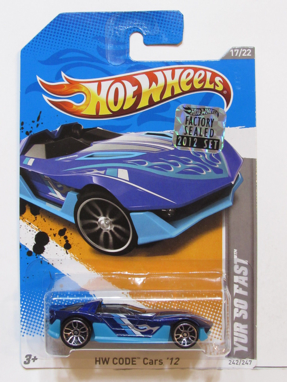 HOT WHEELS 2012 HW CODE CARS YUR SO FAST FACTORY SEALED